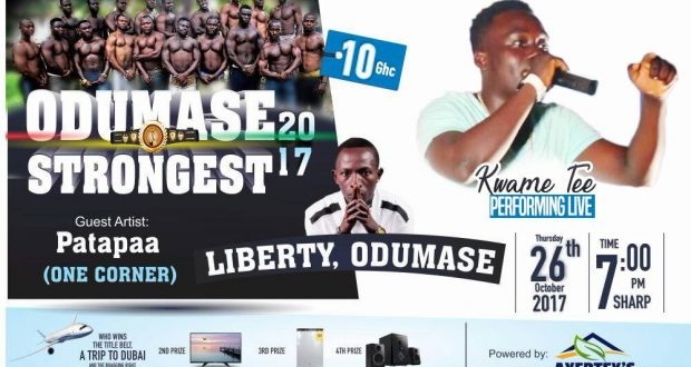 Kwame Tee Performing Live on the Odumase Strongest Show Alongside the One Corner Hit Maker Patapaa